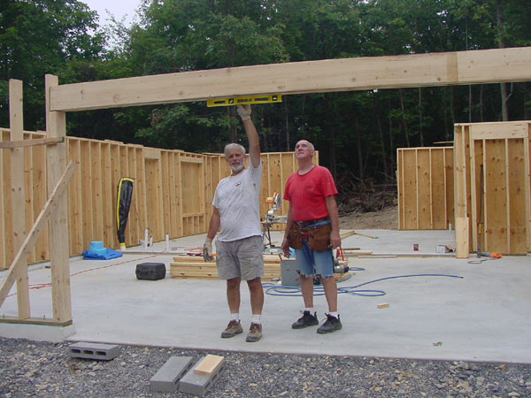 Shed With Garage Door Wall Framing Image Of Photo Of