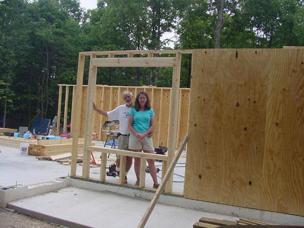 Framing the exterior walls - 32x80 exterior door rough opening ...