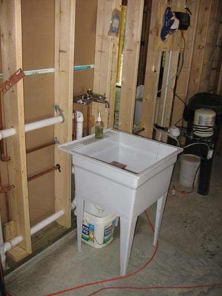 the fully operational garage sink he really got a lot done even ...